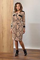 Женское осеннее трикотажное платье Angelina 602 48р.