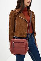 Женская осенняя кожаная красная сумка Igermann 18С830 КВ3 без размерар.