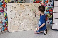 Детская мозаика гигант (Размер 80*60) - цельное дерев