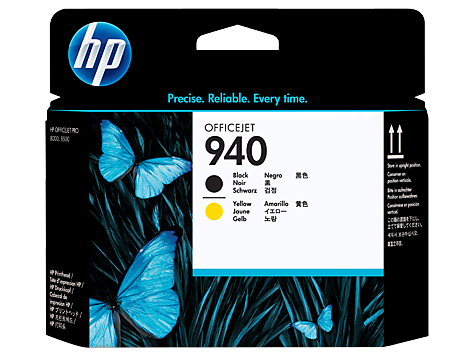 HP C4900A Печатающая головка черный и желтый, HP 940