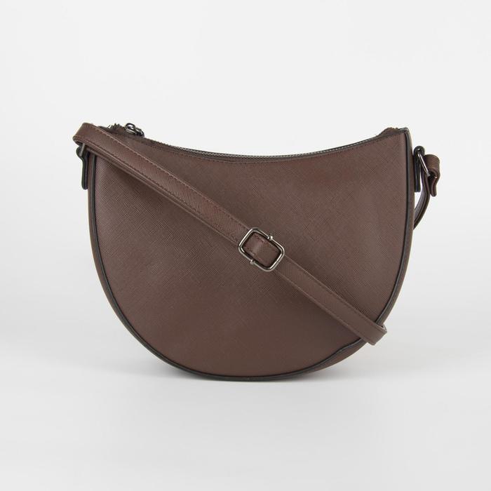 Сумка жен L- 5880, отд на молнии, н/карман, длин ремень, коричневый