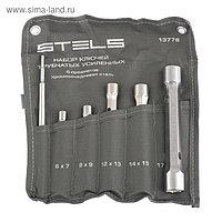 Набор ключей-трубок Stels, торцевых, усиленных, 6 предметов, CrV
