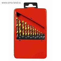 Набор сверл MATRIX, по металлу, 1,5-6,5 мм (через 0,5 мм+3,2 мм, 4,8мм), НSS, 13 шт.