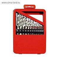 Набор сверл MATRIX, по металлу, 2-8 мм, HSS, 13 шт., металлическая коробка, цилиндрический хвостовик