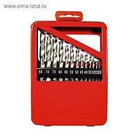 Набор сверл MATRIX, по металлу, 1-10 мм, HSS, 19 шт., металлическая коробка, цилиндрический хвостовик