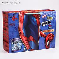 """Пакет ламинат горизонтальный """"Spider-Man"""", Человек-паук, 61х46х20 см"""