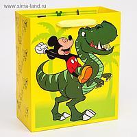 """Пакет ламинат вертикальный """"Dino"""", Микки Маус, 23х27х11,5 см"""
