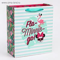 """Пакет ламинат вертикальный """"Fla-Minnie-go"""", Минни Маус, 23х27х11,5 см"""