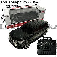 Машинка радиоуправляемая на батарейках с фарами Remote Control Car №5524-4А 1:20 черного цвета