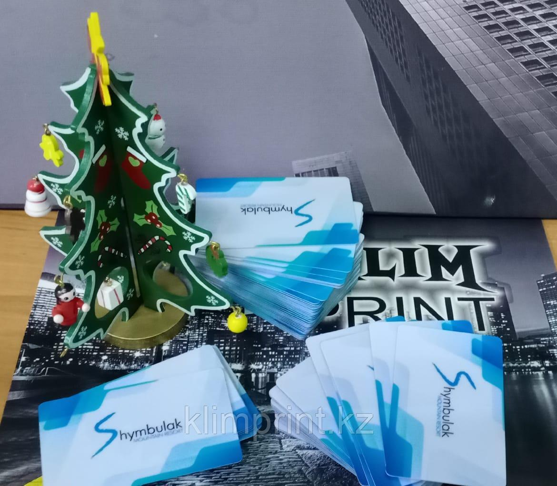 Визитки на пластике матовые визитки Алматы