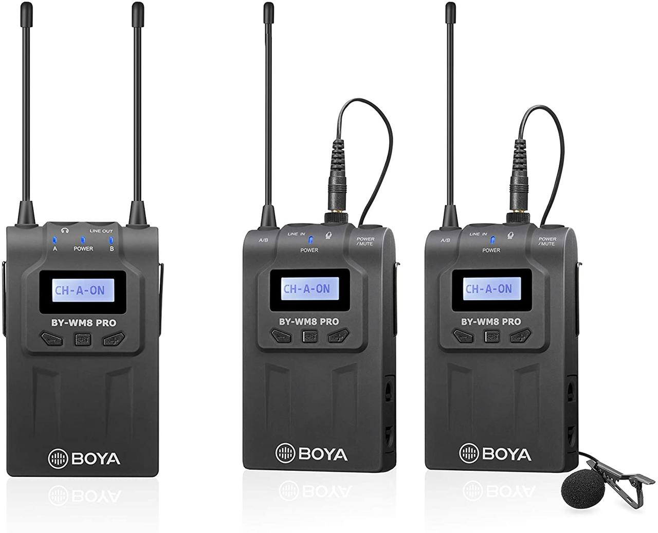 Беспроводной микрофон комплект Boya BY-WM8 Pro-K2