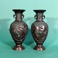 Парадные вазы. Китай. Конец XIX века