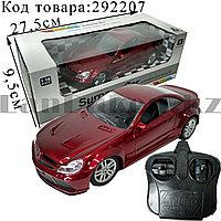 Машинка радиоуправляемая на батарейках с фарами Surpass Car G2035 1:18 красного цвета