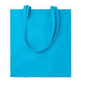 Хлопковая сумка шоппер, бирюзовая
