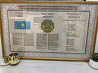 ПЛАКАТ С ГОССИМВОЛИКОЙ  БАГЕТЕ ПОД СТЕКЛОМ (Флаг, Герб, Гимн)