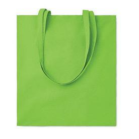 Хлопковая сумка шоппер, зеленая