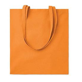 Хлопковая сумка шоппер, оранжевая