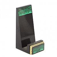 Декоративная подставка для телефона камень малахит Златоуст