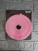 Светодиодная неоновая лента NRP розовый 5м. Неон.Светодиодная лента.Неон гибкая