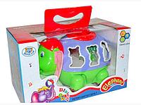 Развивающая музыкальная игрушка Слоник цирковой с шариками