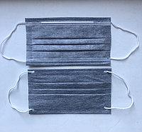 Маска медицинская трехслойная с угольным фильтром (РУ ИМН-РК, СТ KZ)