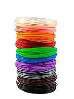 """Набор пластика для 3D ручки """"НИТ"""" в тубусе: PLA - 10 цветов + 4 трафарета (100 метров)"""