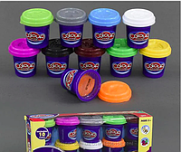 Набор пластилина 10 шт, Colour dough