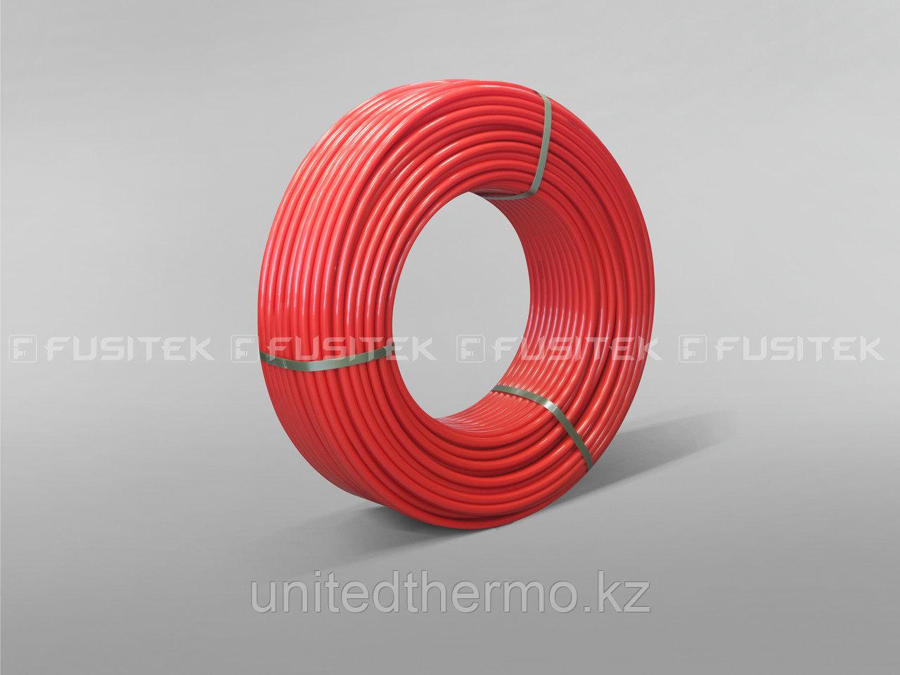 Труба для теплого пола Fusitek PE-RT II 16x2.0 мм однослойная, цвет красный