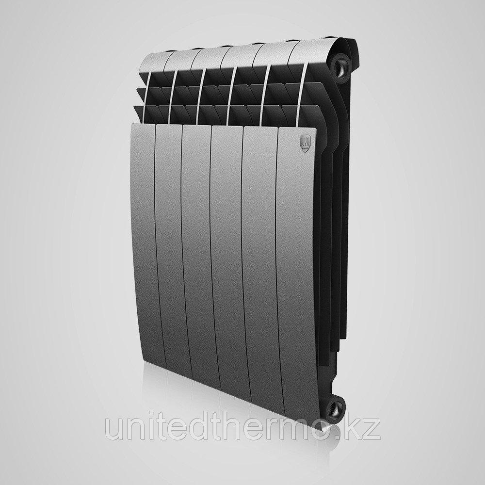 Радиатор биметаллический Royal Thermo Biliner 500/90 серебро выпуклый (РОССИЯ)