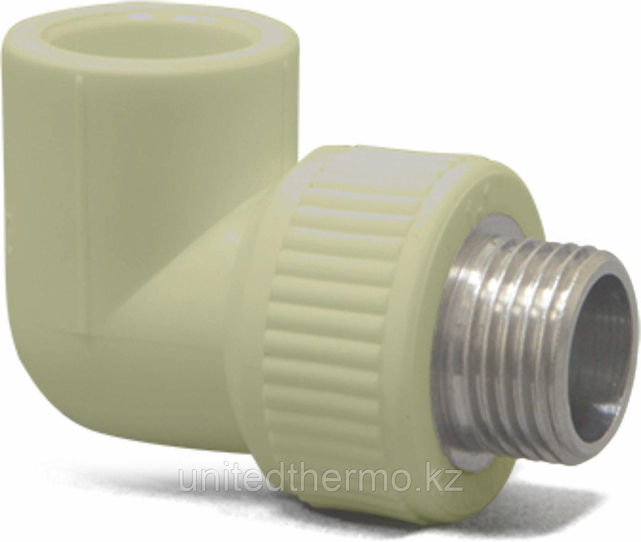 Угол 90° комбинированный НР 20Х1/2 Fusitek (СЕРЫЙ)