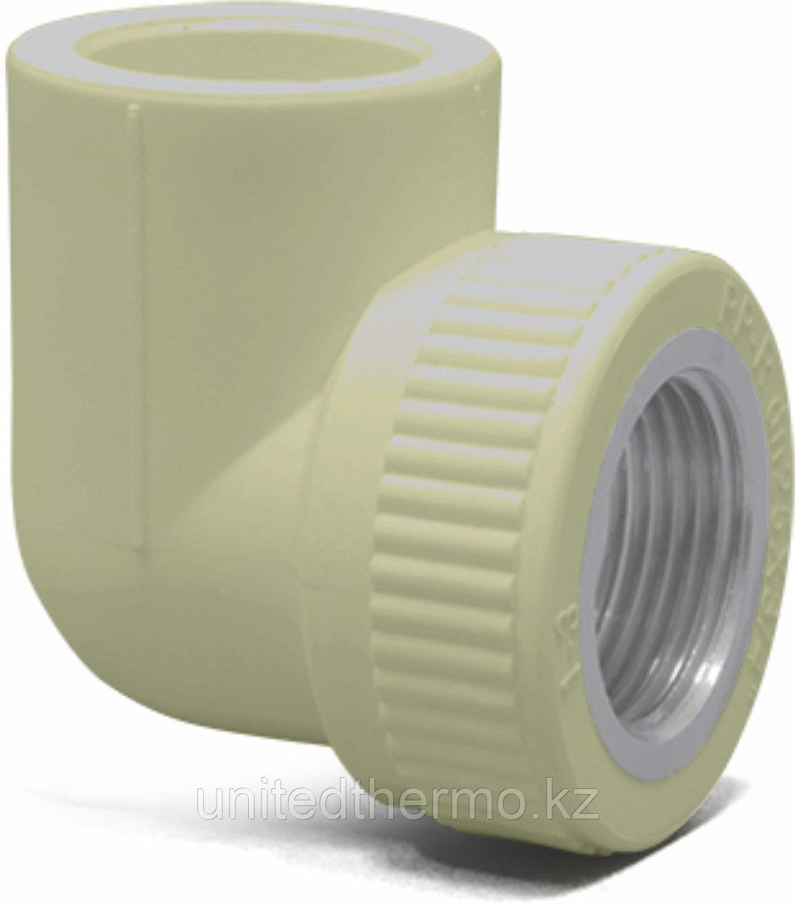 Угол 90° комбинированный ВР 20Х3/4 Fusitek (СЕРЫЙ)