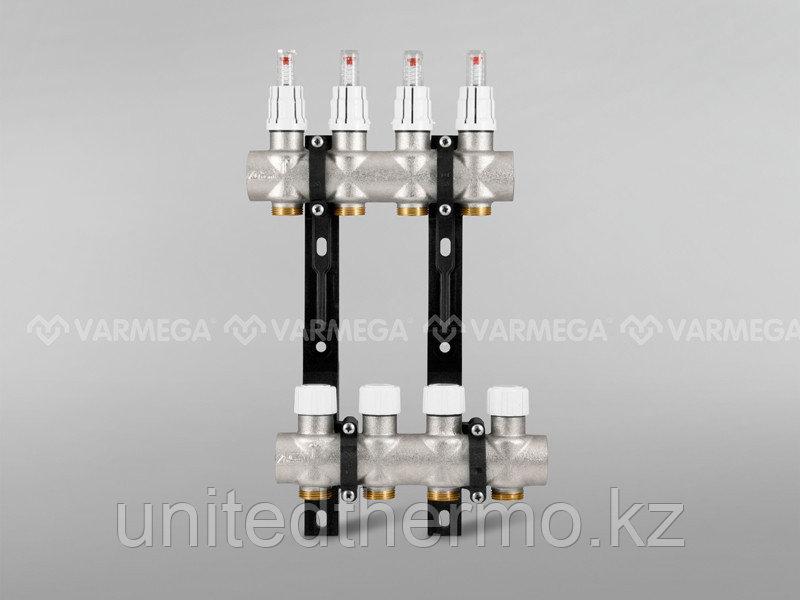 """Коллектор для теплого пола с расходомерами Varmega - 8 выходов, S8 1""""x3/4"""" EK"""