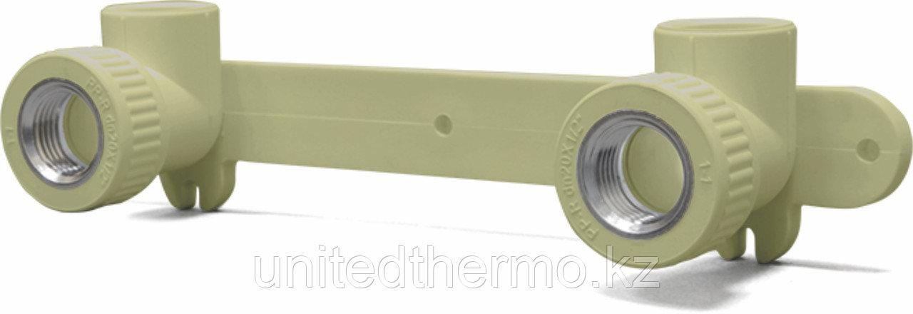 Настенное крепление под смеситель 20х1/2 Fusitek (СЕРОЕ)