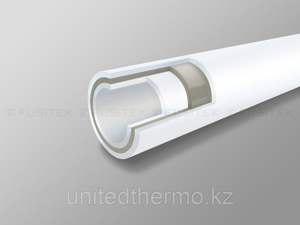Труба 50 мм ППР армированная стекловолокном Fusitek Faser (PN 20)