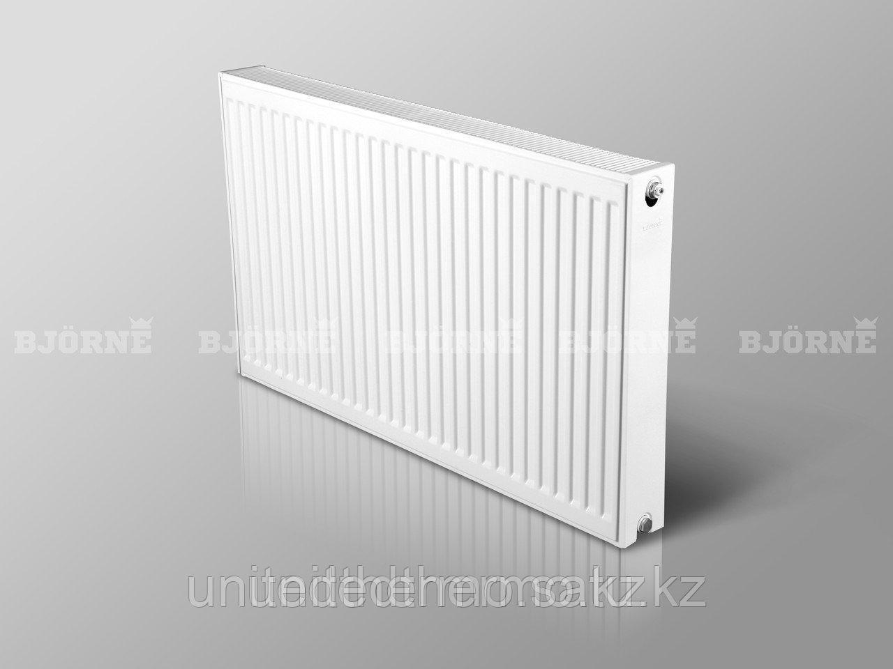 Стальной панельный радиатор Bjorne тип 22K H900мм*L400мм до L3000мм боковое подключение