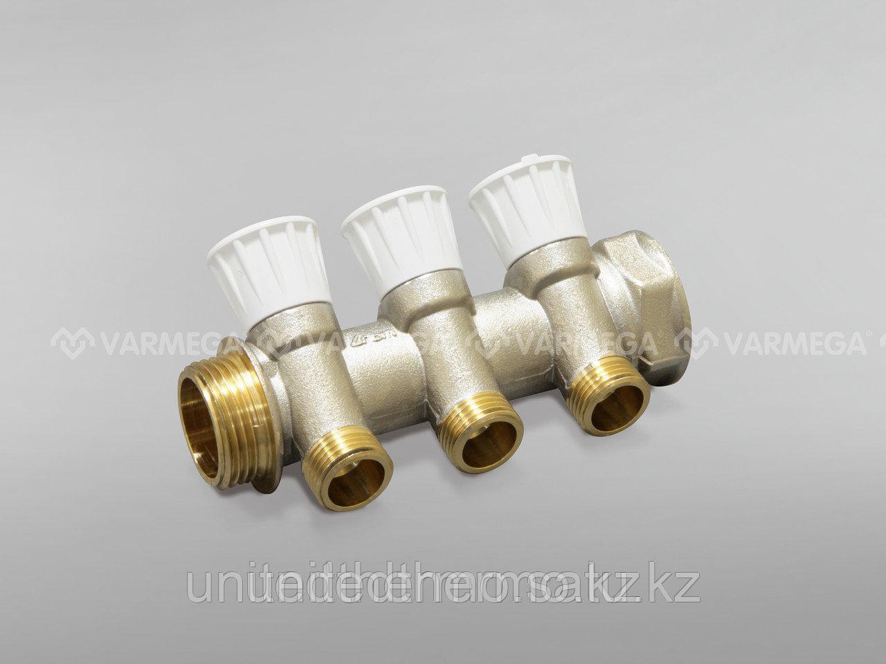 """Коллектор с регулирующими вентилями для водоснабжения с выходами Varmega, 1""""x2"""