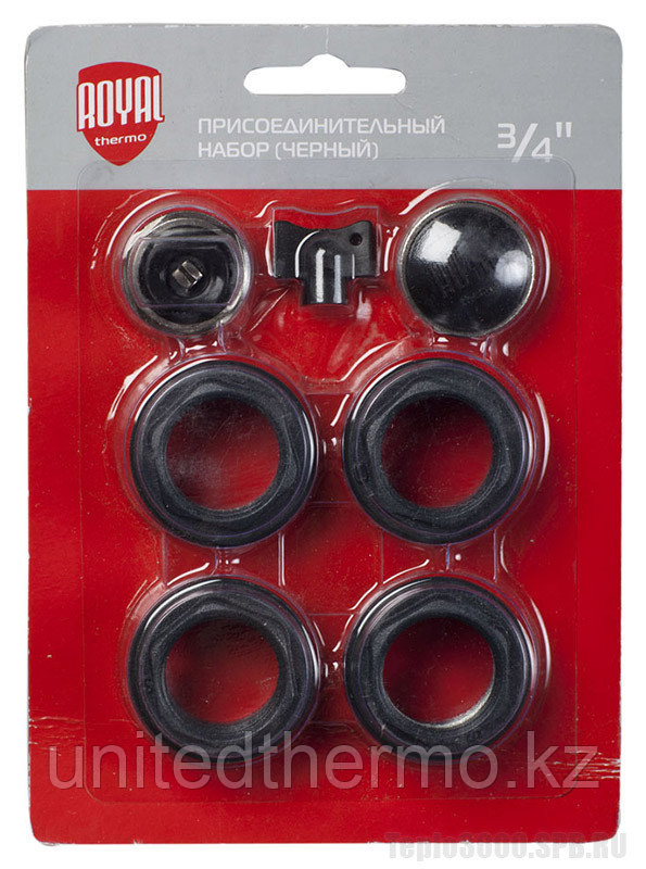 Монтажный набор Royal Thermo 3/4 без кронштейнов цвет Черный (РОССИЯ)