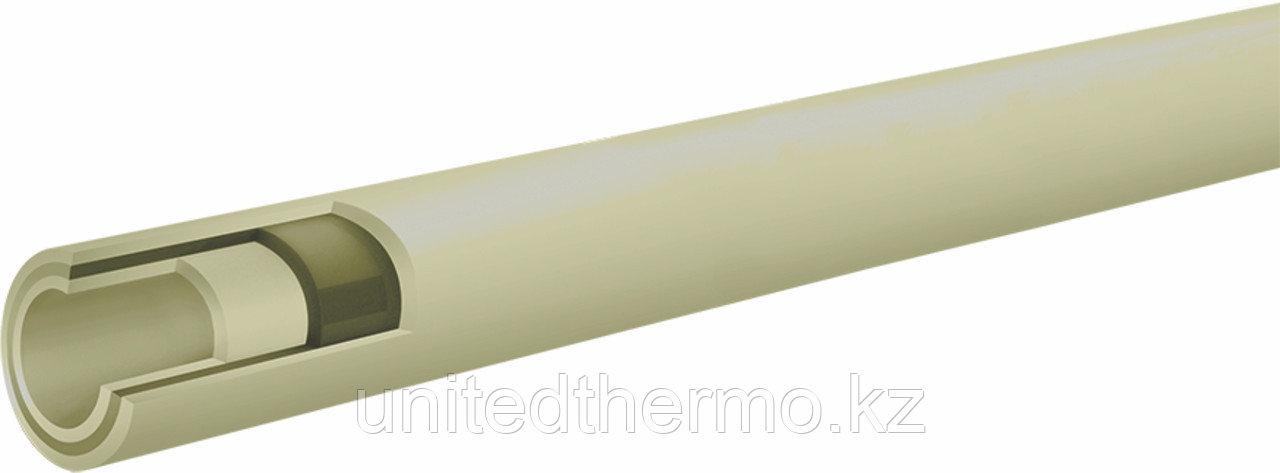 Труба 40 мм ППР армированная стекловолокном Fusitek Faser (PN 20) (СЕРАЯ)