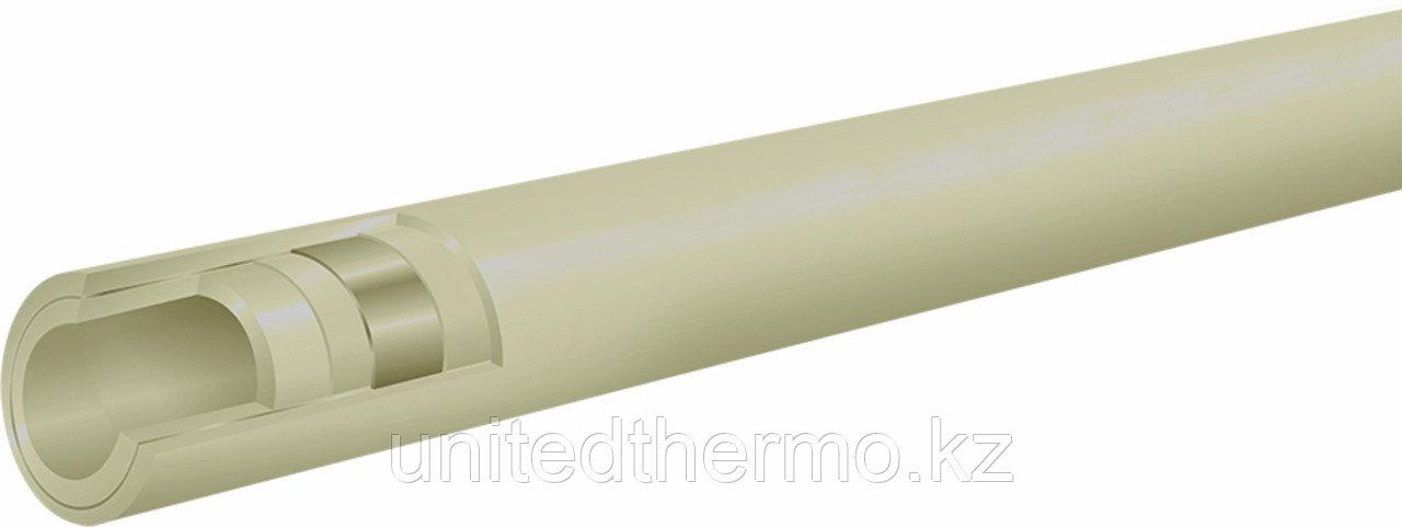 Труба 20 мм ППР армированная алюминием Fusitek (PN 25) (СЕРАЯ)