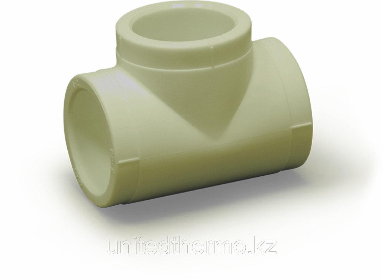 Тройник равносторонний 25 мм Fusitek (СЕРЫЙ)