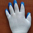 Перчатки хозяйственные (х/б) высокой плотности с резиновой пропиткой, фото 2