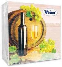 Салфетки сервировочные 33*33 Veiro Винтаж-Вино, 20 штук в пачке