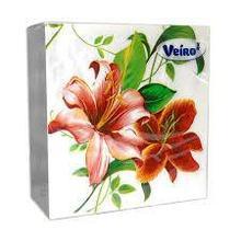Салфетки сервировочные 33*33 Veiro Лилия, 20 штук в пачке