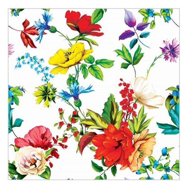 Салфетки сервировочные 33*33 Veiro Цветочная поляна, 20 штук в пачке