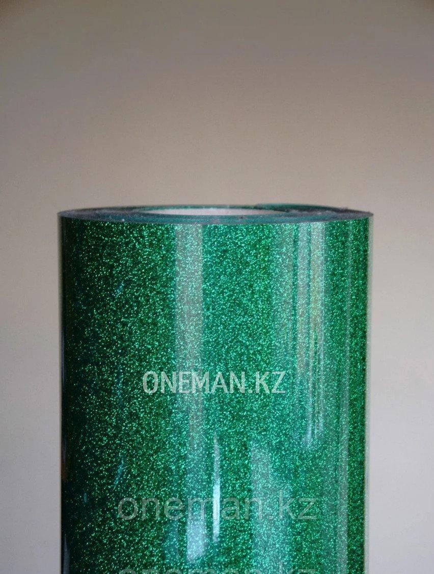 Флекс пленка глиттер зеленый (OSG Glitter Green)