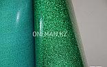 Флекс пленка глиттер зеленый (OSG Glitter Green), фото 3