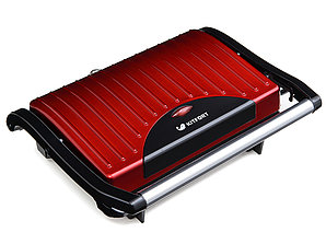 Бутербродница Kitfort КТ-1609 Panini Maker красный