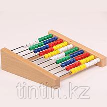 Детские деревянные счеты 10 рядные, фото 3