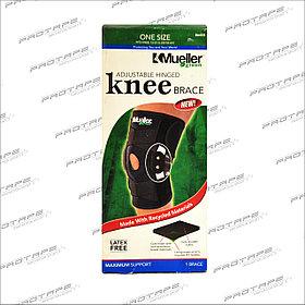 Бандаж на колено Mueller Green Adjustable Hinged Knee Brace шарнирный OneSize