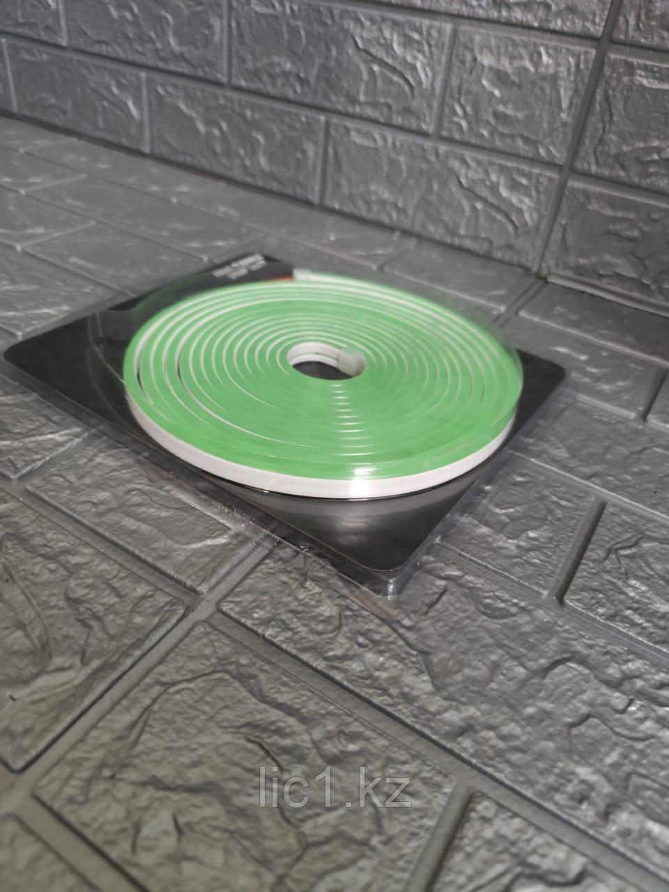 Светодиодная неоновая лента NRG зеленый 5м. Неон.Светодиодная лента.Неон гибкая